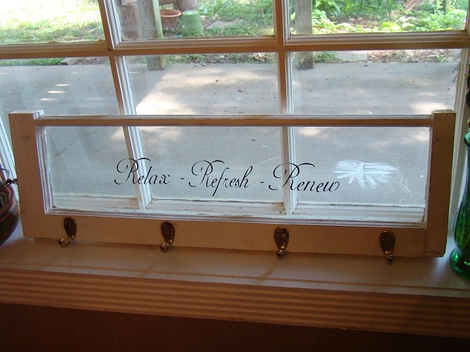 Old wooden window with vinyl lettering by gracefulproverbs for Vinyl window reviews