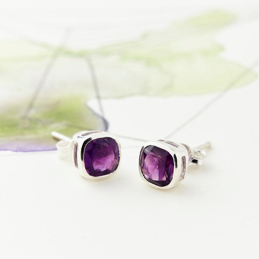 Studs Stud Earrings Bridesmaid Earrings Boho Earrings Minimalist Earrings Silver Earrings Everyday Earrings Gemstone Earrings JE244