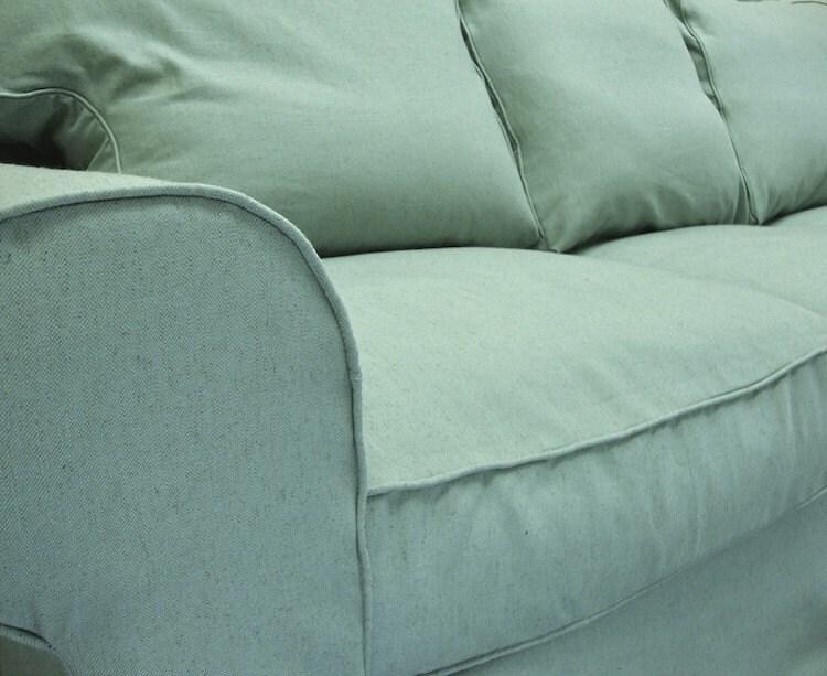 IKEA Ektorp Sofa Custom Slipcover in Sky Linen by