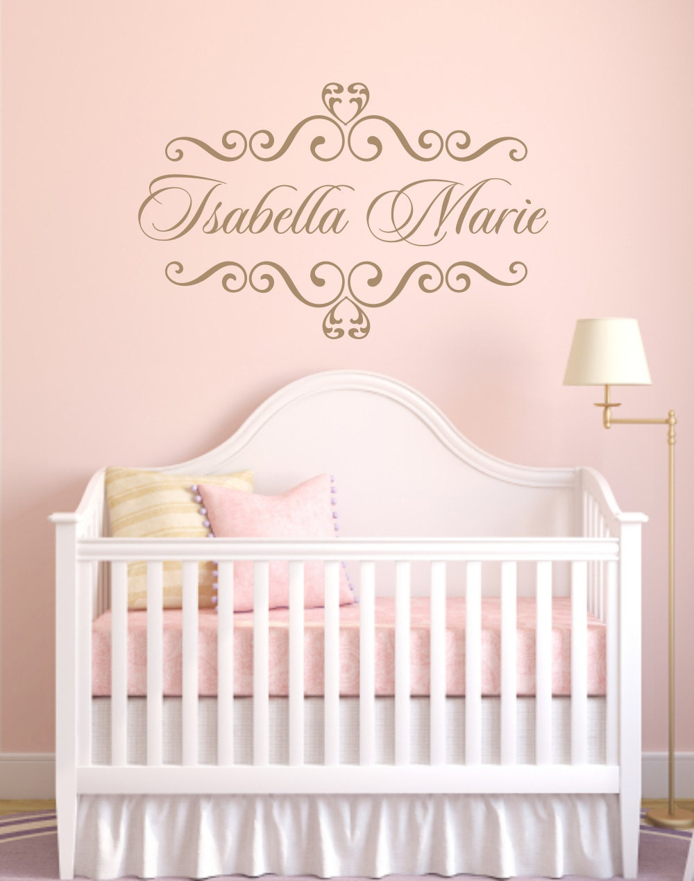 Etsy Personalized Wall Decor : Personalized baby nursery name vinyl wall decal by wallartsy