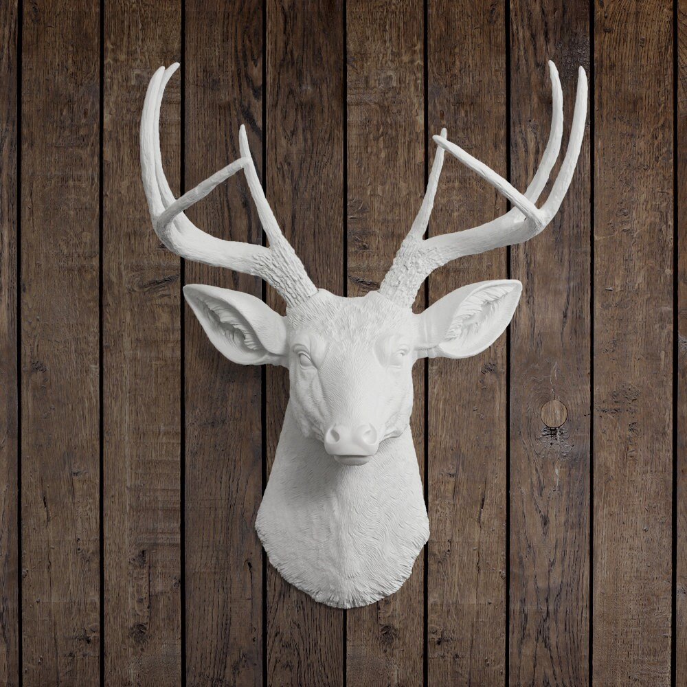 Items Similar To The Virginia In White Faux Deer Head