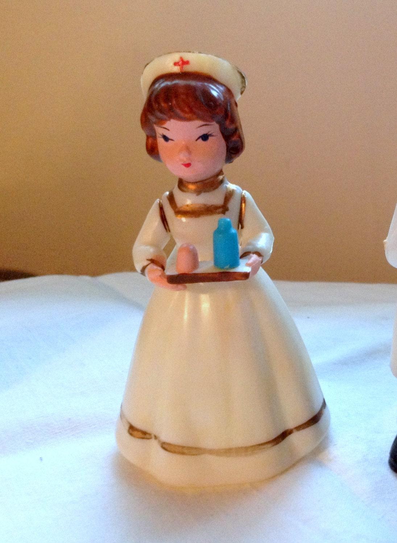 Vintage Wilton Cake Topper Figurine Nurse Nursing By