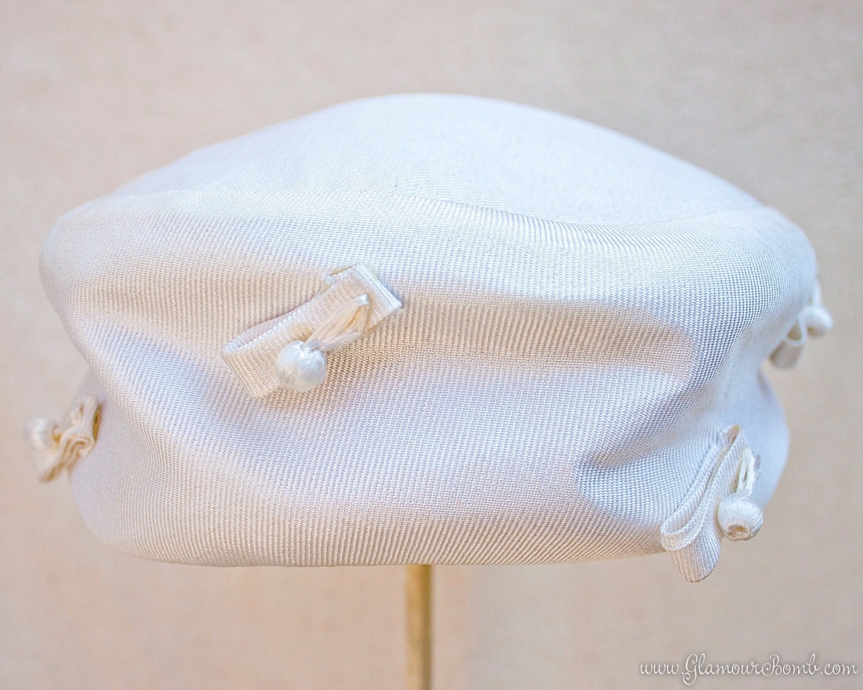 Lord and Taylor Vintage Pillbox Hat Circa 1960s
