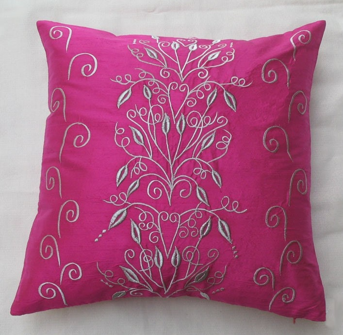 Etsy Pink Throw Pillow : Pink decorative pillow with filigree by Comfyheavenpillows on Etsy