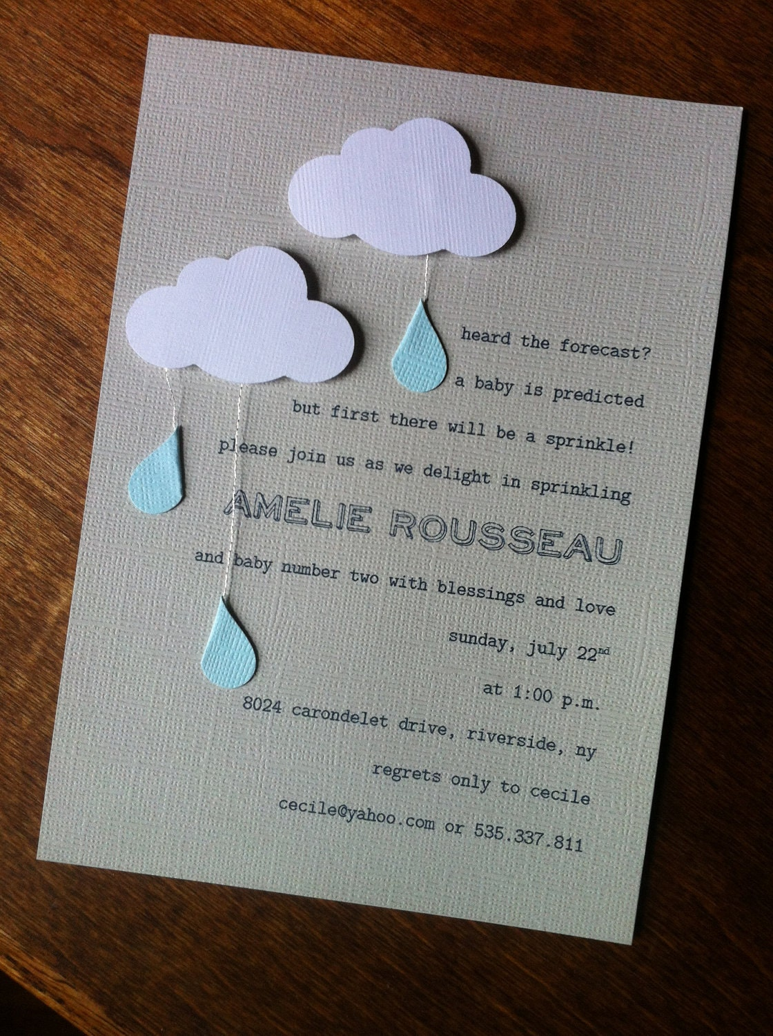 modern baby shower or sprinkle invitation by pinkhalo on etsy