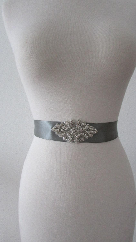 SALE Wedding Belt, Bridal Belt, Crystal Rhinestone -