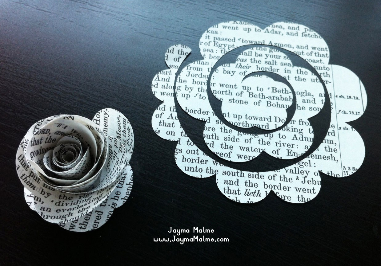 Paper Flowers Template by JaymaMalme on Etsy