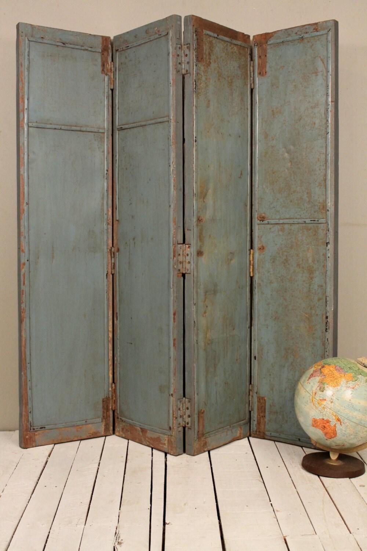 Sale Rusty Industrial Blue Gray Headboard By