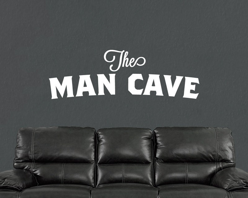 Mini Man Cave Quotes : The man cave vinyl wall decal stickers words by