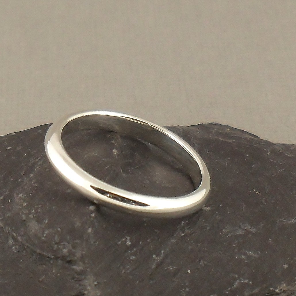unisex sterling silver ring simple 3mm band by puranajewellery