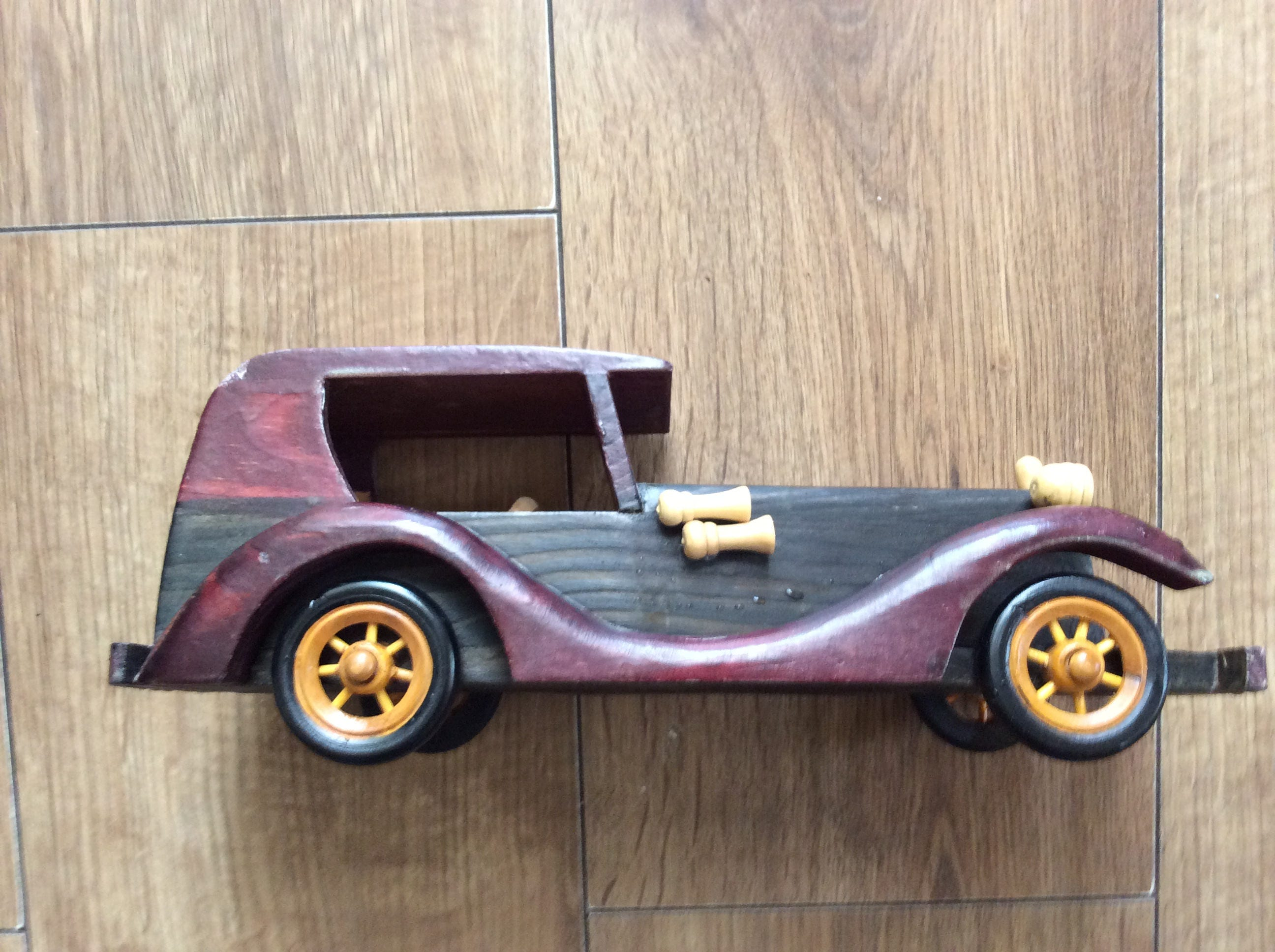 Hand crafted toy car