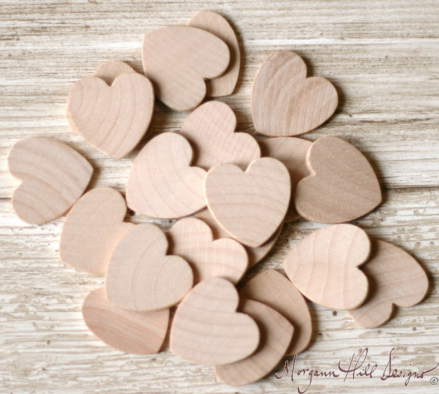 Unavailable listing on etsy for Wooden hearts for crafts