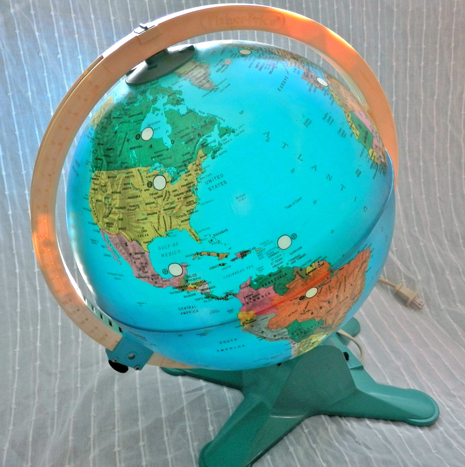 Fisher Price Light-Up World Globe with by LittleCityVintage