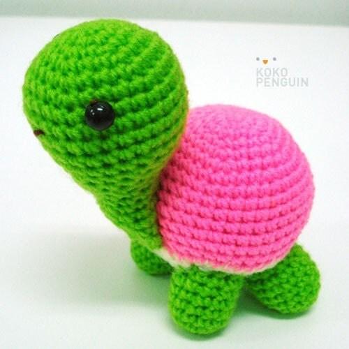 Amigurumi Turtle Crochet Pattern : Items similar to pdf pattern amigurumi happy turtle on etsy