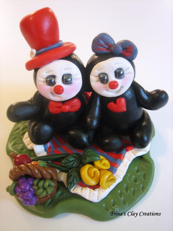 Polymer Clay Ladybugs - A Ladybug Picnic - trinasclaycreations