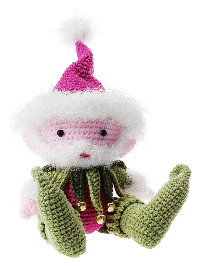 Amigurumi With Eyelash Yarn : Items similar to Crochet Magical Santa Elf Amigurumi pdf ...