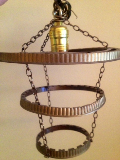 Mid Century 3 Tier Chandelier Frame Light by VintageRiverview