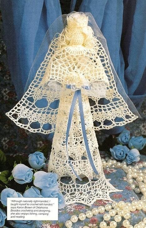 Free Crochet Angel Doll Pattern : Items similar to X763 Crochet PATTERN ONLY Bride Angel ...