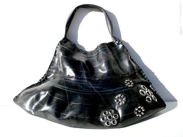 Handmade Recycled Rubber Bag (FR001)