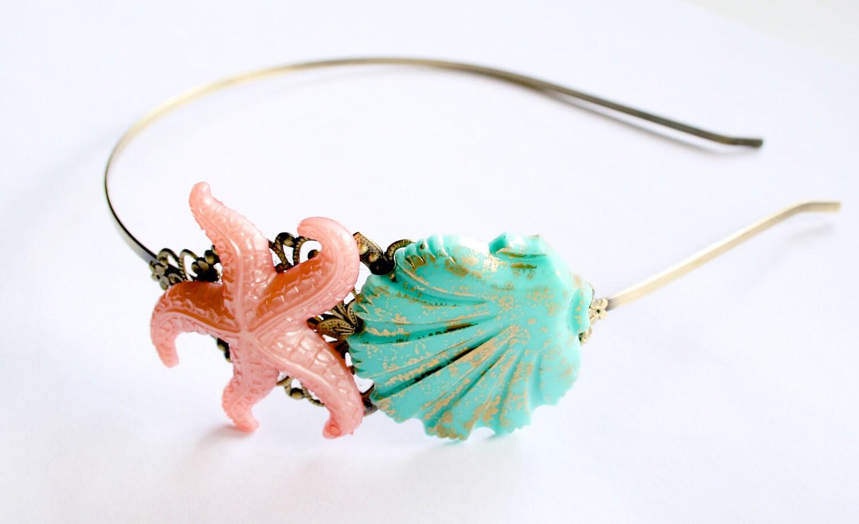 Mermaid Headband Shell Head Band - misanthropycreations