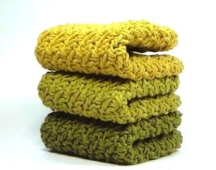 Premium Early Autumn Crocheted Washcloths or Dishcloths - Easy123