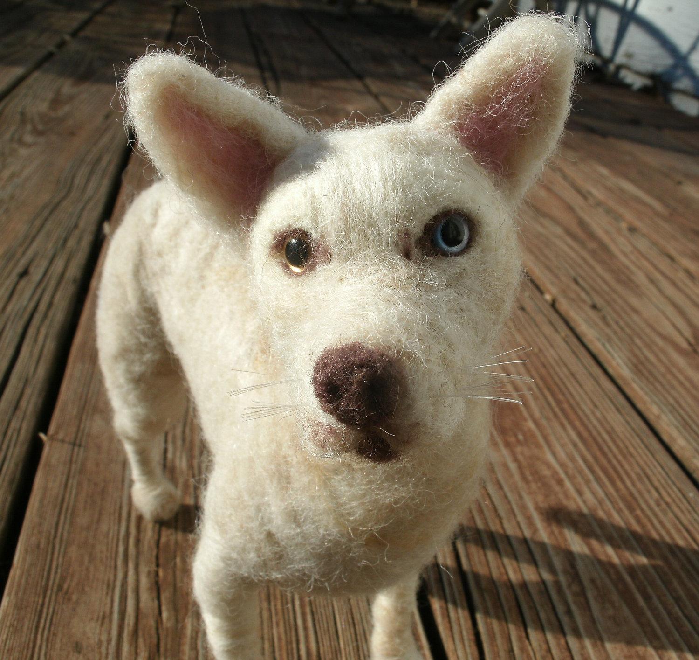 Italian Shepherd Dog Custom needle felted dog