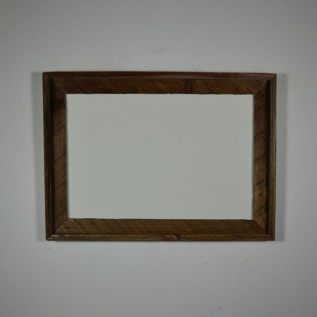 12 x 18 reclaimed wood poster frame eco friendly by barnwood4u