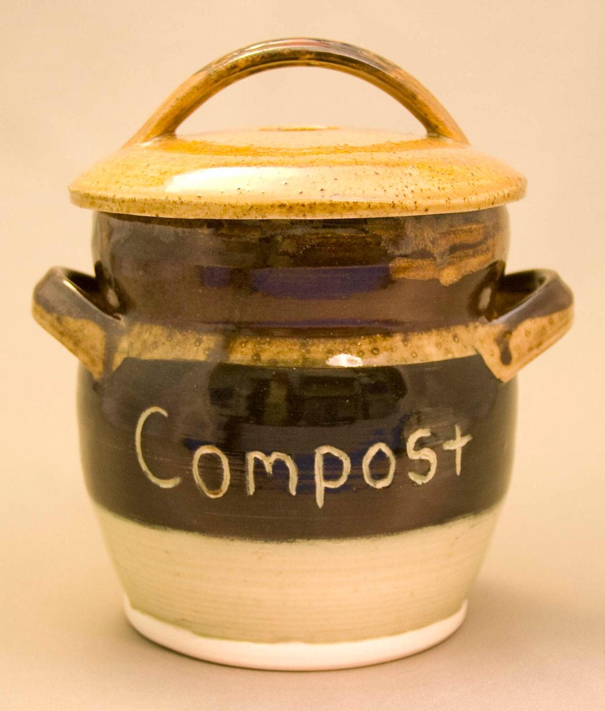 Countertop Compost : Compost Crock / Countertop Compost Container by carltonceramics