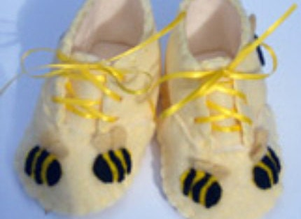 Baby Bumble Bee Booties  Shoes