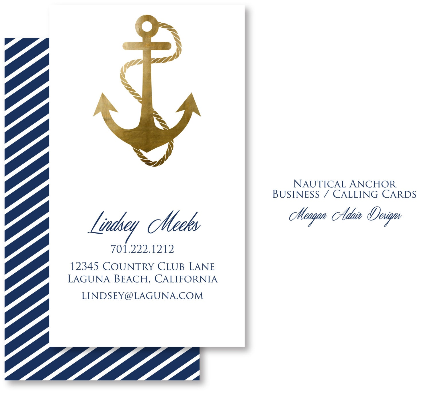 nautical business calling cards customized by siphiphooray
