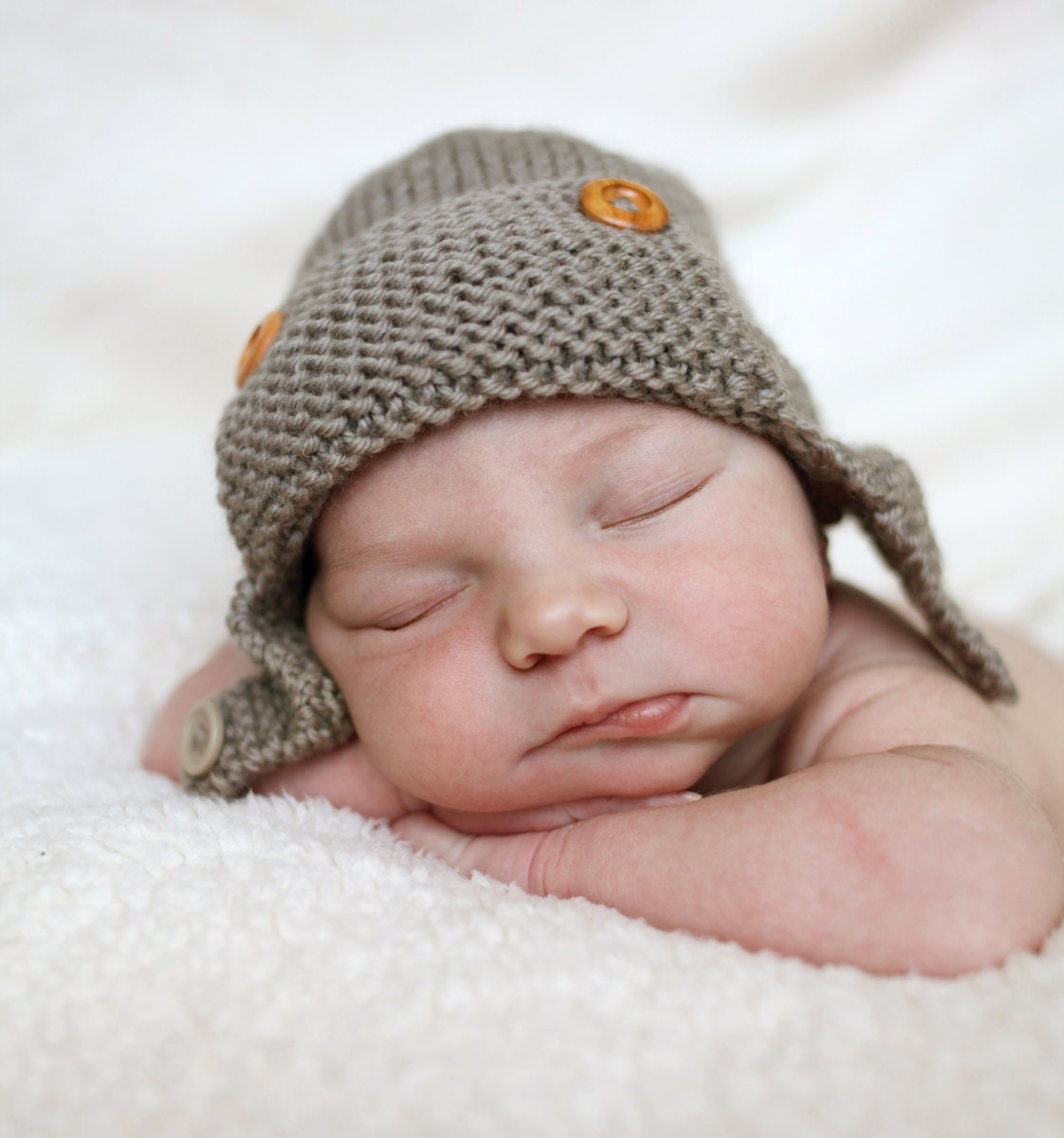 Knitting Pattern For Baby Aviator Hat : Aviator Hat Knitting Pattern Baby to Child sizes by LoveFibres