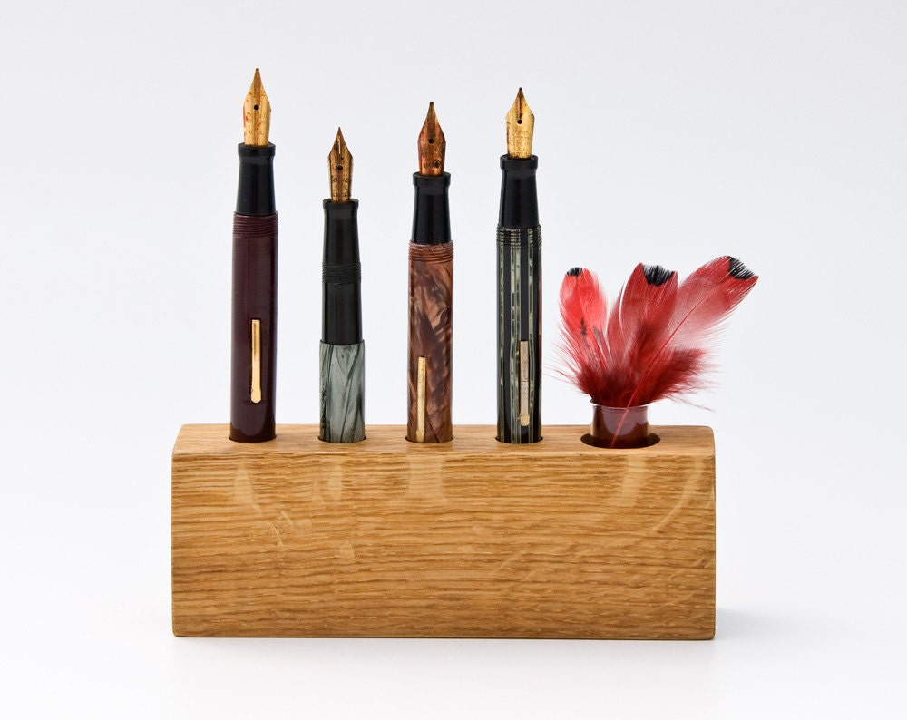 Small Pen Holder Wood Pencil Holder Desk Organizer Modern