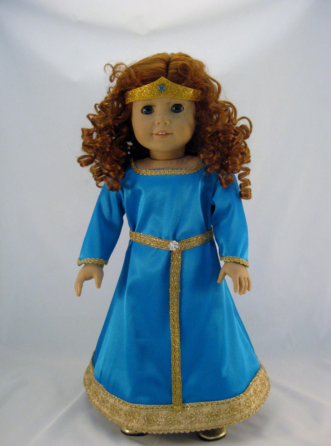 Merida Inspired Doll is a Rewigged American Girl Doll with Handmade Merida Style Dress