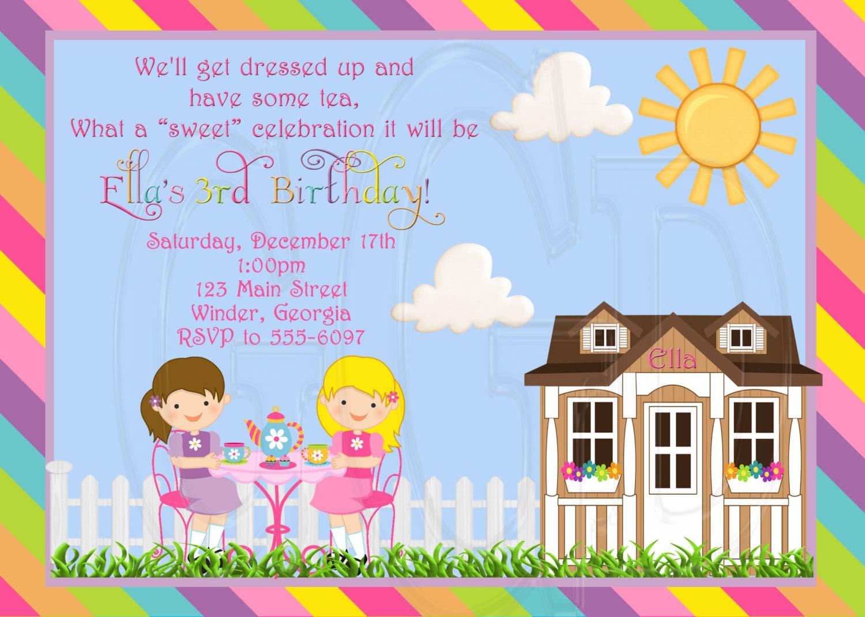 Items similar to Tea Party Invitation Birthday Dress-up ...