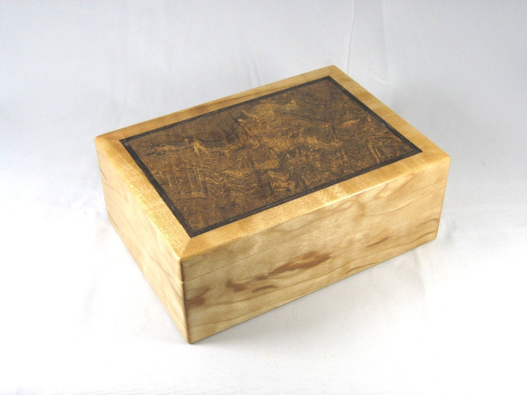 Wooden keepsake mens valet box quilted cherry by for Men s valet box