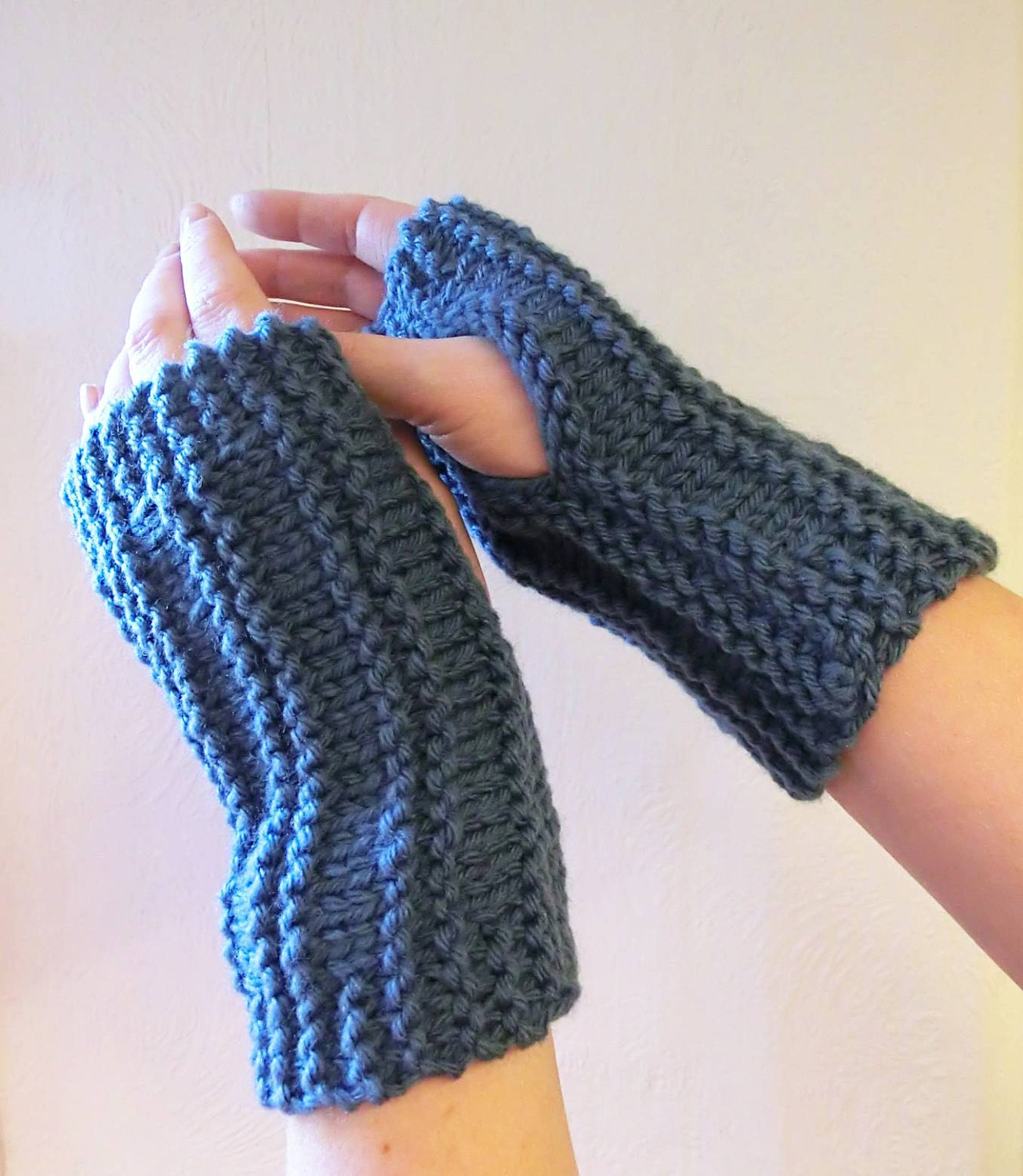 Wrist Warmers Knitting Pattern : Knitting Pattern for Easy Peasy Wrist Warmers by RuthMaddock