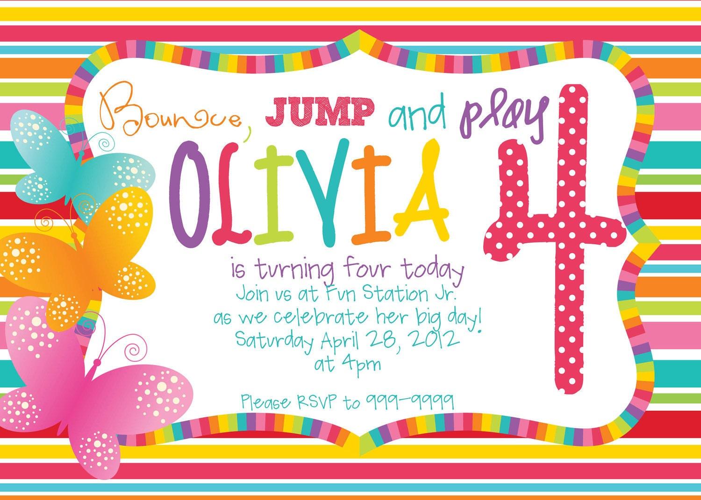 40th Birthday Ideas: Rainbow Birthday Invitation Templates