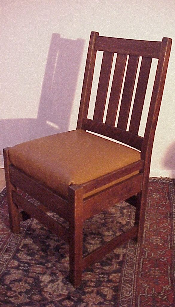 antique stickley side chair with seat by quaboagvalleyantique