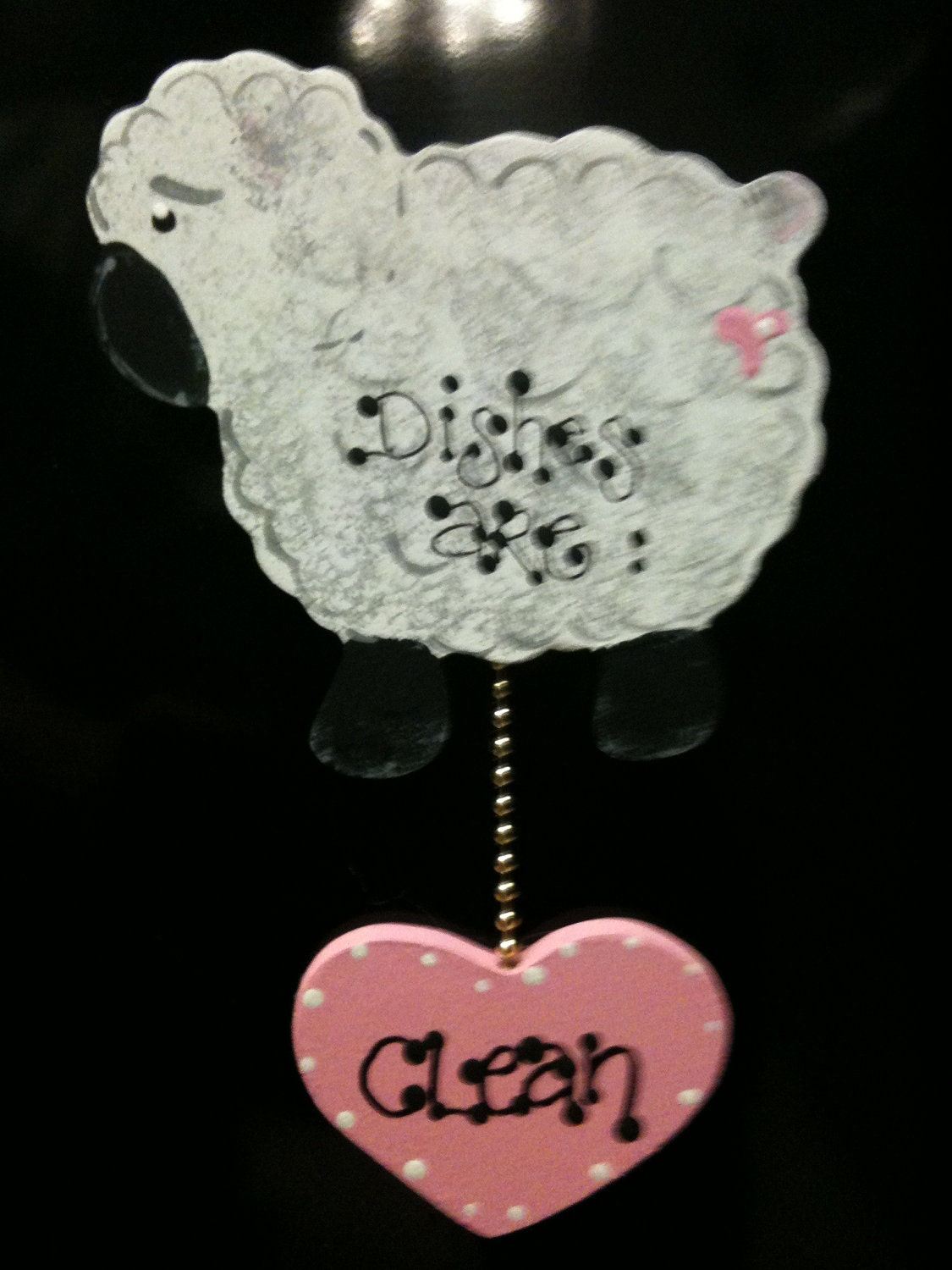 Lamb  Dishwasher sign Magnet or Suction cup kitchen decor Dishes are Clean/DirtY sheep