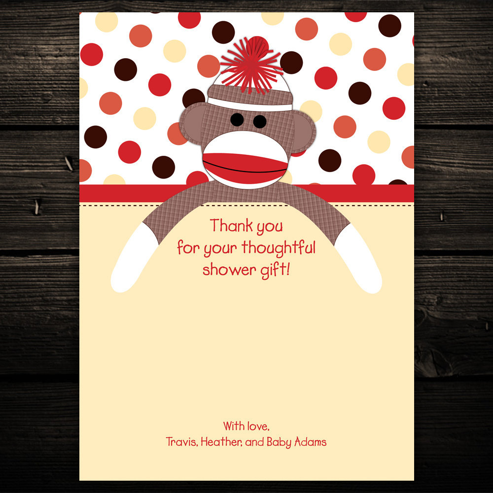 20 sweet sock monkey baby shower or birthday by littlebeesgraphics