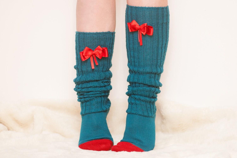 items similar to s knee high boot socks wool