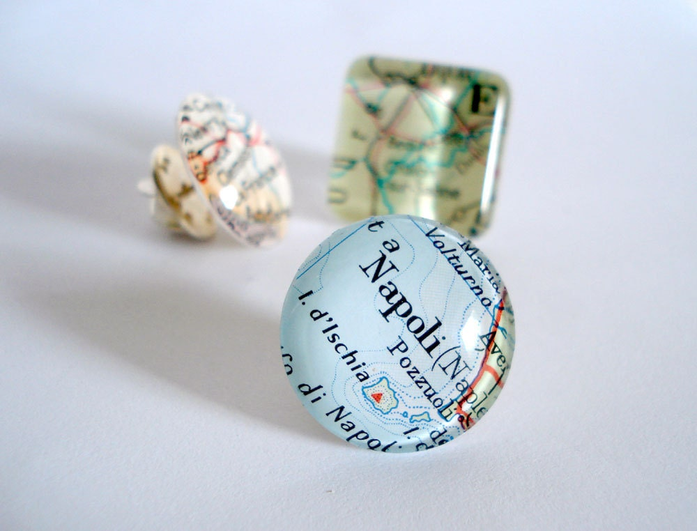 Tie Pin, Tie Tack, Mens Accessories, Maps, Personalized, Custom - Bookity