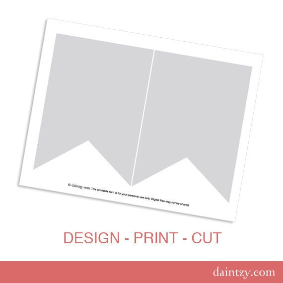 instant download party printable template diy banner by daintzy. Black Bedroom Furniture Sets. Home Design Ideas
