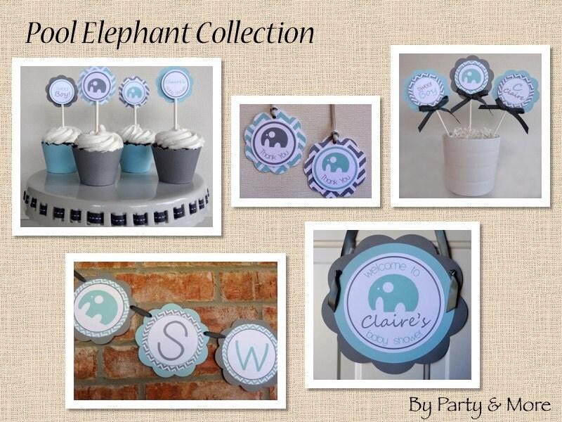 similar to boy baby shower elephant baby shower decorations on etsy