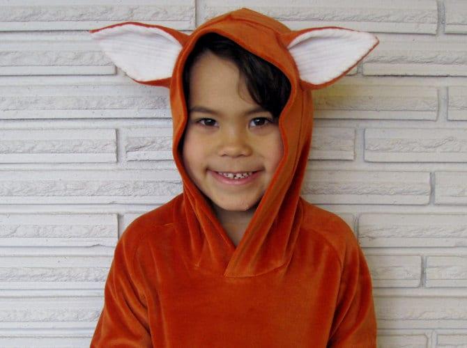 Fox Velour Hoodie size 4T