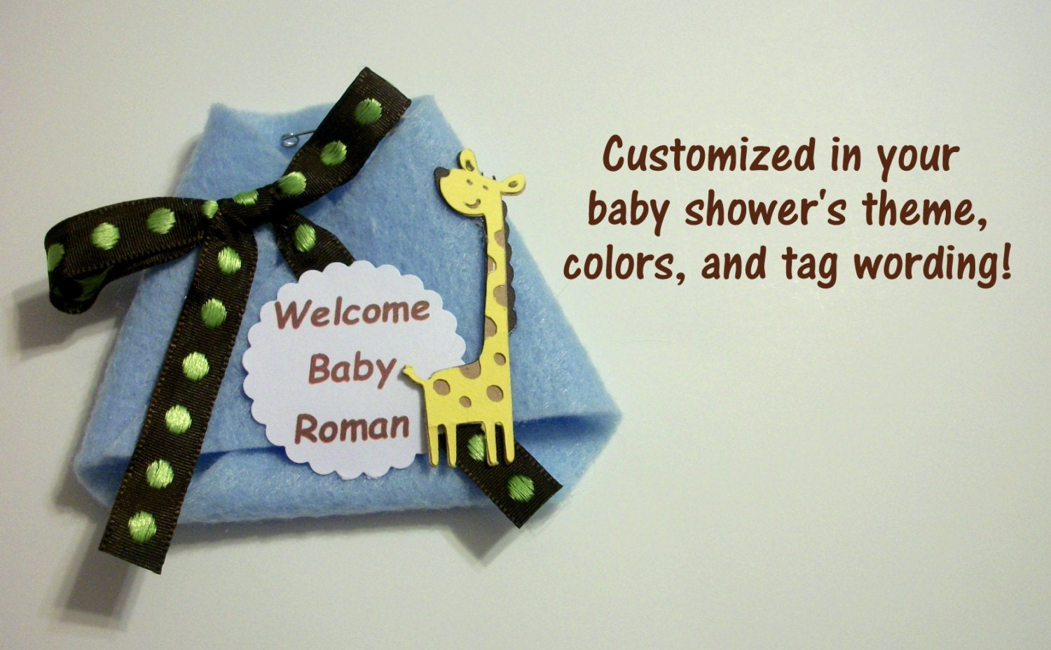 dirty diaper baby shower game guest pins guest corsages per