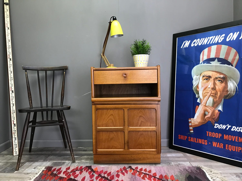 Nice Retro NATHAN Bedside Table Vintage Teak Sideboard Side Chest of Drawers