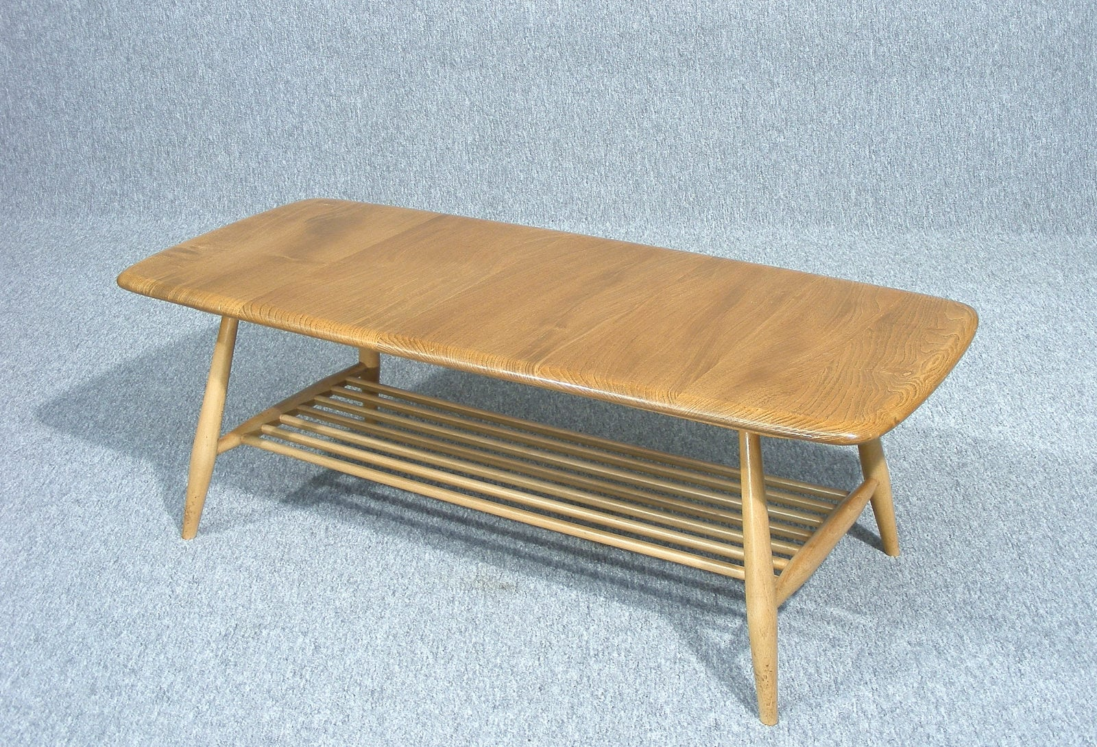 Coffee Table Ercol Vintage Retro Mid century 1960s Blonde Elm Occasional Table Side Table Magazine Rack