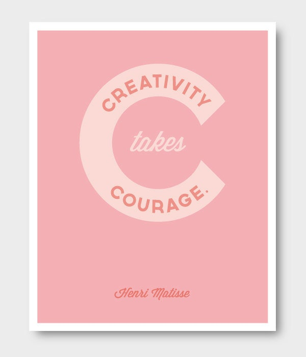 creativity takes courage matisse print