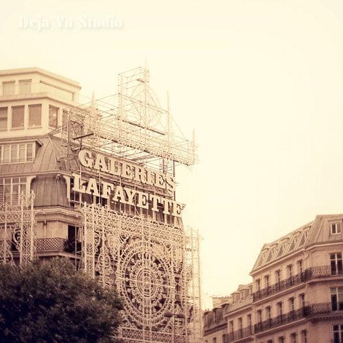 Galeries Lafayette - 8x8 Print - Photography of Paris, Paris Wall Art, Home Decor, Architecture, French Decor, Parisian Mood - dejavustudio